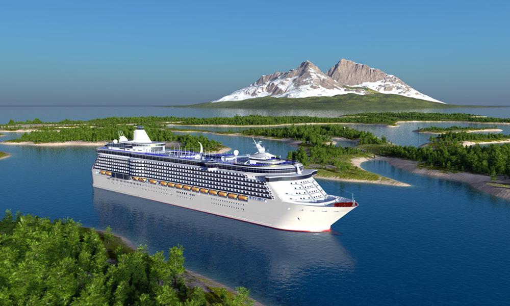 Kreuzfahrt mit einem Kreuzfahrtschiff